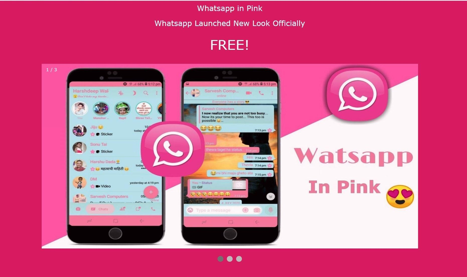 PINK WHATSAPP?