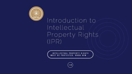 """Course on """"Introduction to Intellectual Property Rights (IPR)"""""""