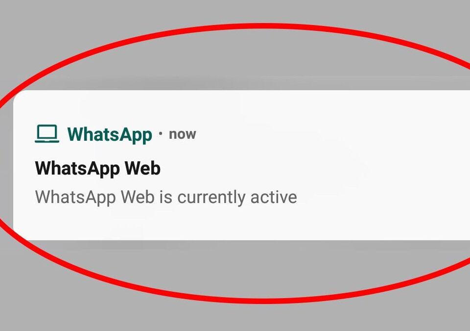 WhatsApp Web's persistent notification